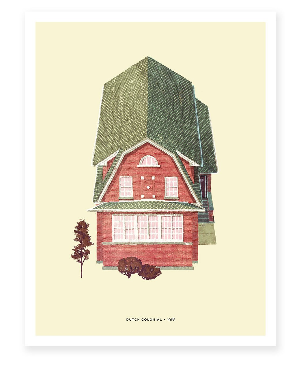 Chicago Dutch Colonial House Print Also Shop