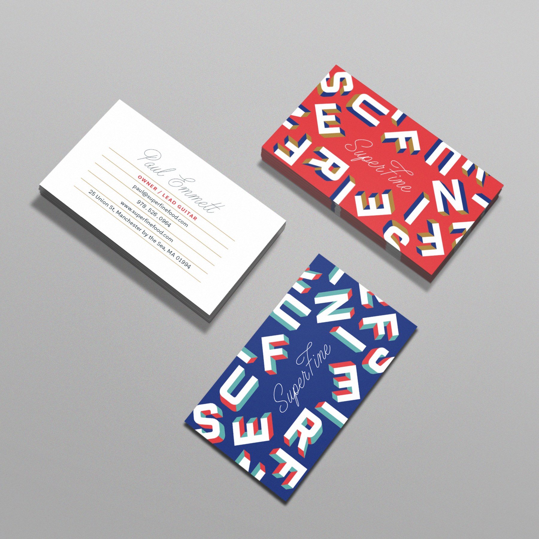 Superfine Business Cards